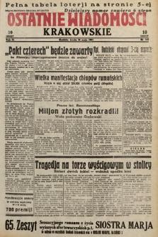 Ostatnie Wiadomości Krakowskie. 1933, nr142