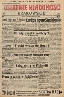 Ostatnie Wiadomości Krakowskie. 1933, nr154