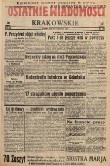 Ostatnie Wiadomości Krakowskie. 1933, nr155