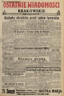 Ostatnie Wiadomości Krakowskie. 1933, nr157