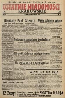 Ostatnie Wiadomości Krakowskie. 1933, nr158