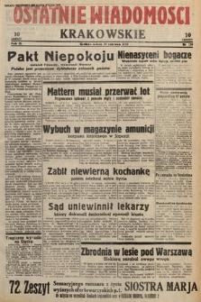 Ostatnie Wiadomości Krakowskie. 1933, nr159