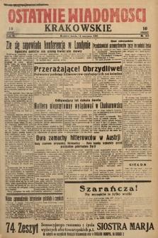 Ostatnie Wiadomości Krakowskie. 1933, nr163