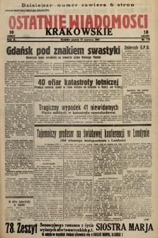 Ostatnie Wiadomości Krakowskie. 1933, nr172