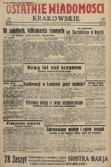 Ostatnie Wiadomości Krakowskie. 1933, nr173