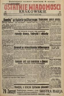 Ostatnie Wiadomości Krakowskie. 1933, nr174