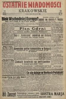Ostatnie Wiadomości Krakowskie. 1933, nr177