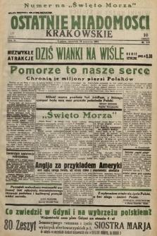 Ostatnie Wiadomości Krakowskie. 1933, nr178