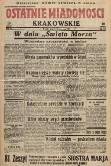 Ostatnie Wiadomości Krakowskie. 1933, nr179