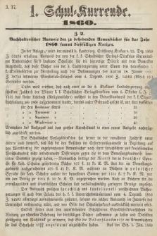 Schul-Kurrende. 1860, kurenda1