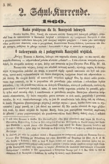 Schul-Kurrende. 1860, kurenda2