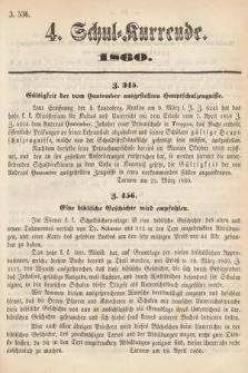 Schul-Kurrende. 1860, kurenda4