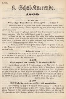 Schul-Kurrende. 1860, kurenda6