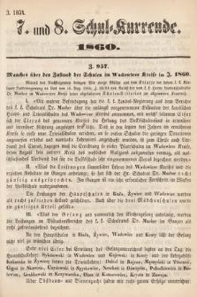 Schul-Kurrende. 1860, kurenda7 i 8