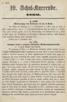 Schul-Kurrende. 1860, kurenda10