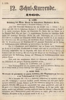 Schul-Kurrende. 1860, kurenda12