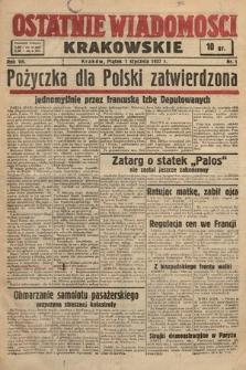 Ostatnie Wiadomości Krakowskie. 1937, nr1
