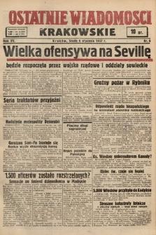 Ostatnie Wiadomości Krakowskie. 1937, nr6