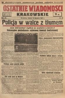 Ostatnie Wiadomości Krakowskie. 1937, nr16