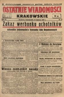 Ostatnie Wiadomości Krakowskie. 1937, nr18