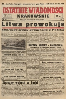Ostatnie Wiadomości Krakowskie. 1937, nr21