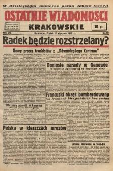 Ostatnie Wiadomości Krakowskie. 1937, nr22