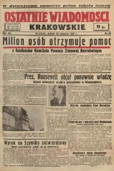 Ostatnie Wiadomości Krakowskie. 1937, nr23