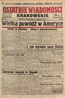Ostatnie Wiadomości Krakowskie. 1937, nr25
