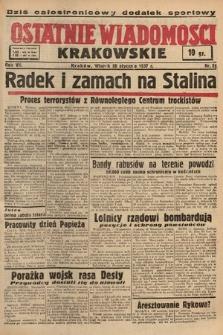 Ostatnie Wiadomości Krakowskie. 1937, nr26