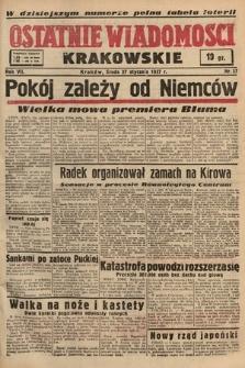 Ostatnie Wiadomości Krakowskie. 1937, nr27
