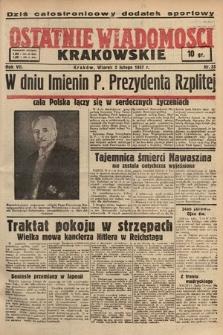 Ostatnie Wiadomości Krakowskie. 1937, nr33