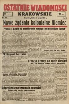 Ostatnie Wiadomości Krakowskie. 1937, nr36