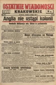 Ostatnie Wiadomości Krakowskie. 1937, nr37