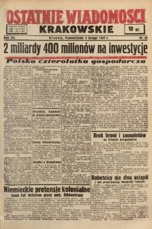 Ostatnie Wiadomości Krakowskie. 1937, nr39