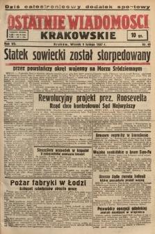 Ostatnie Wiadomości Krakowskie. 1937, nr40