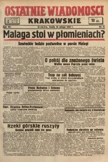 Ostatnie Wiadomości Krakowskie. 1937, nr41