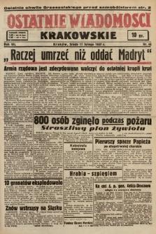 Ostatnie Wiadomości Krakowskie. 1937, nr48