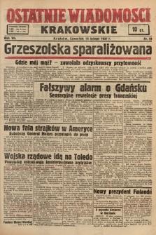 Ostatnie Wiadomości Krakowskie. 1937, nr49