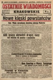 Ostatnie Wiadomości Krakowskie. 1937, nr50