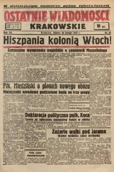 Ostatnie Wiadomości Krakowskie. 1937, nr51