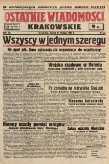 Ostatnie Wiadomości Krakowskie. 1937, nr55