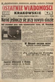 Ostatnie Wiadomości Krakowskie. 1937, nr56