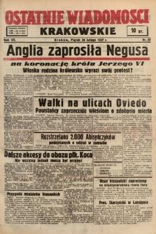 Ostatnie Wiadomości Krakowskie. 1937, nr57
