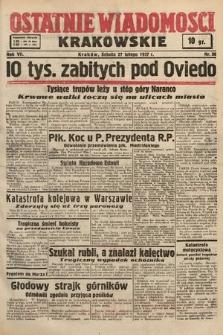 Ostatnie Wiadomości Krakowskie. 1937, nr58