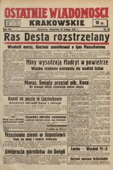 Ostatnie Wiadomości Krakowskie. 1937, nr59