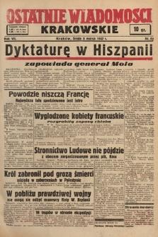 Ostatnie Wiadomości Krakowskie. 1937, nr62