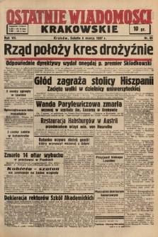 Ostatnie Wiadomości Krakowskie. 1937, nr65