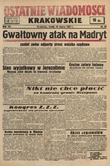 Ostatnie Wiadomości Krakowskie. 1937, nr69