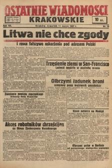 Ostatnie Wiadomości Krakowskie. 1937, nr70