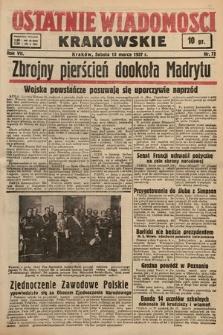 Ostatnie Wiadomości Krakowskie. 1937, nr72